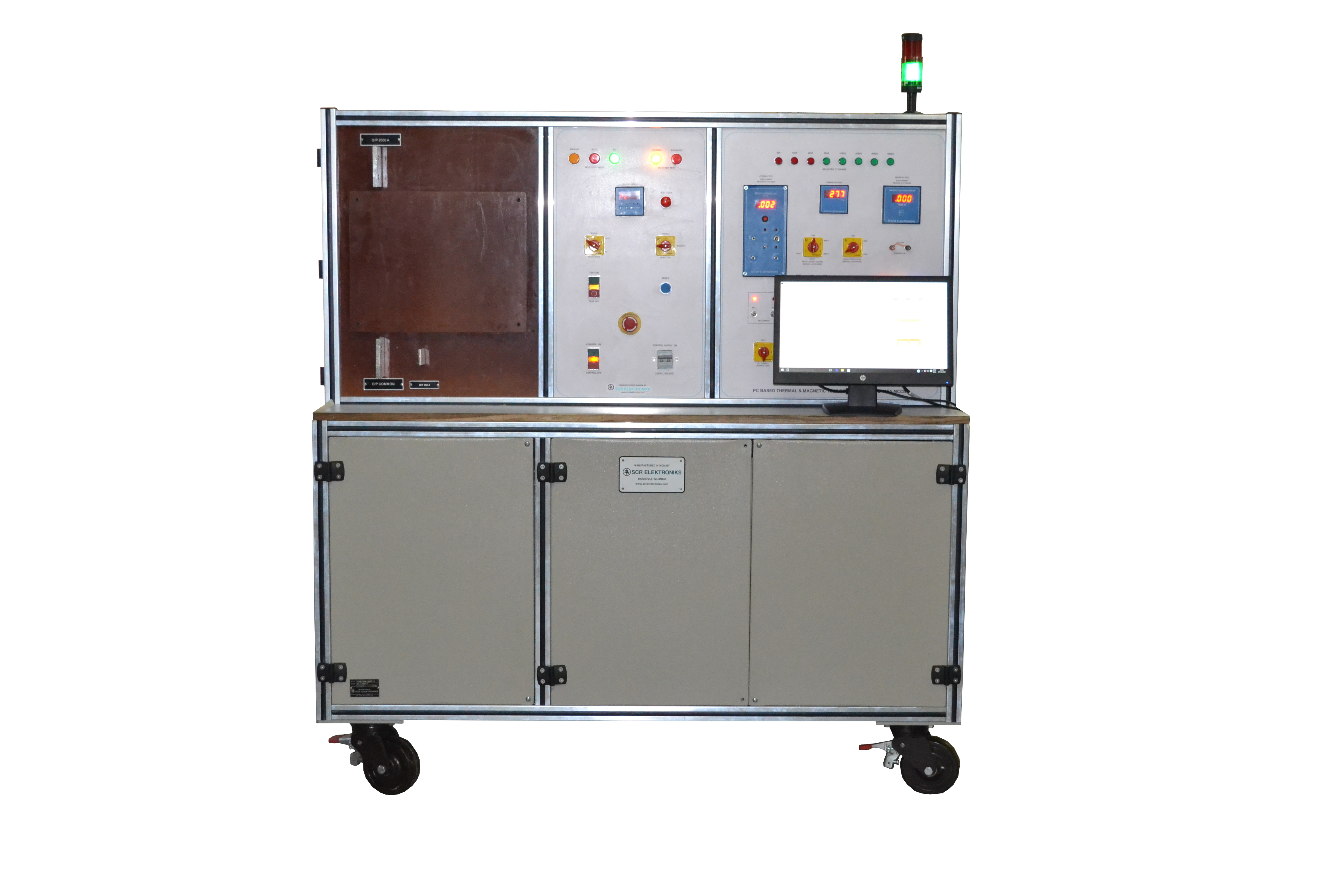 JS-125 Digistar - Thermal + Magnetic Test Bench for MCCB- Clean