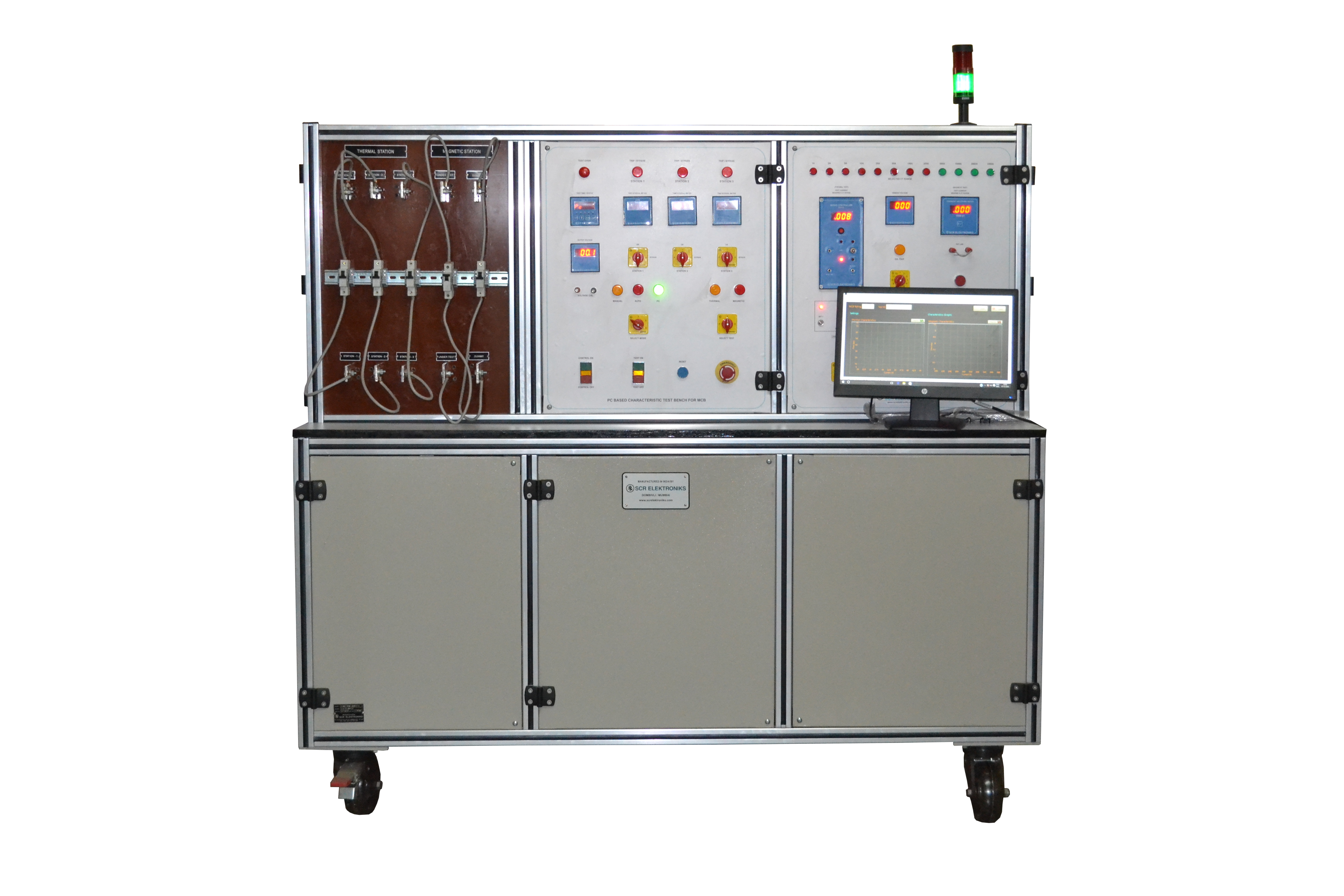 JS-126 Digistar - Thermal + Magnetic Test Bench for MCB-Clean