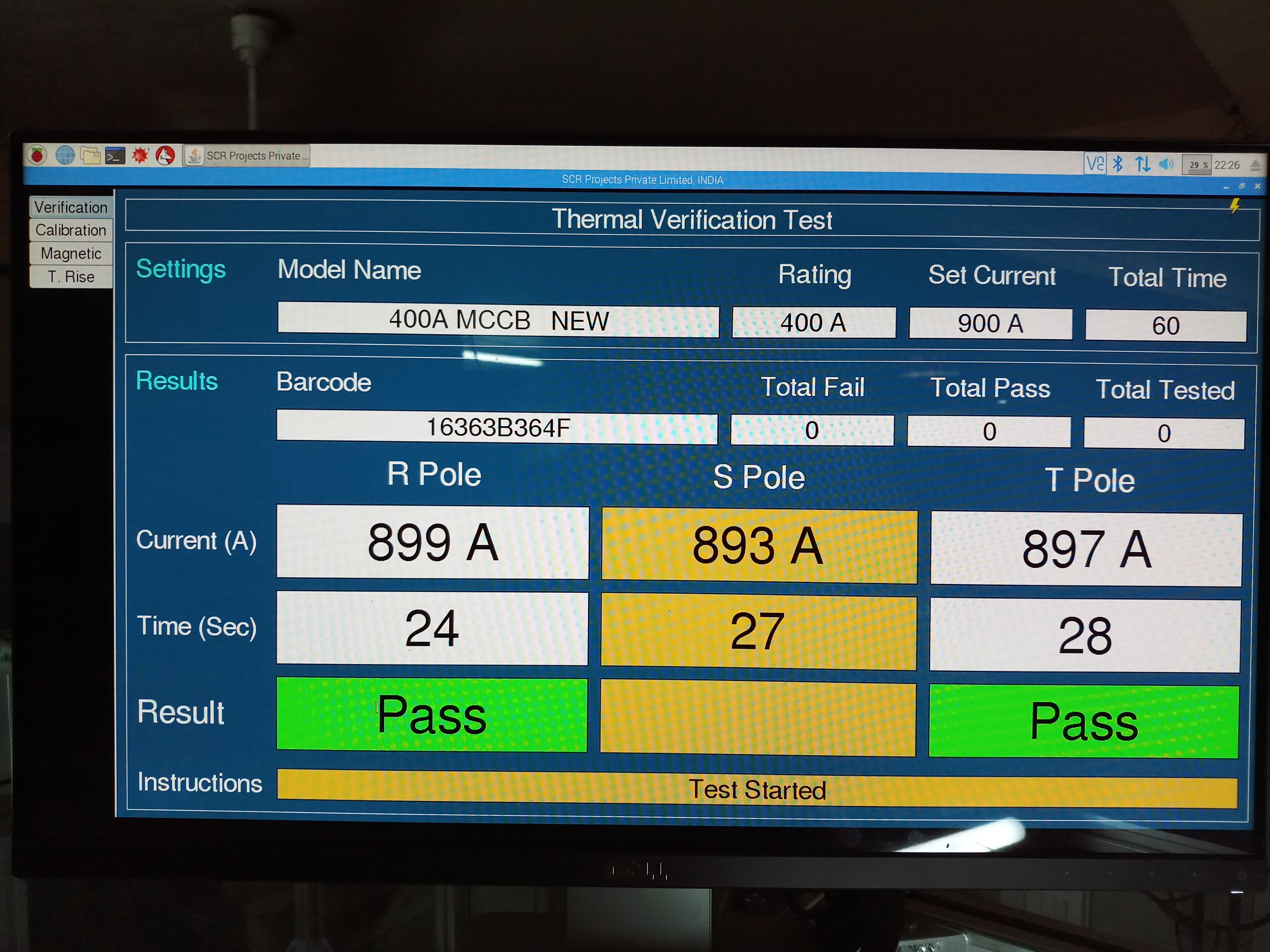 Raspberry Pi based monitoring system for ATE